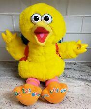 Sesame Street Play and Teach Big Bird Interactive Plush Teaching Toy Complete