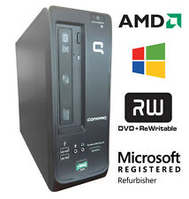 Fast HP Small Desktop 1.6Ghz APU 4GB DDR3 160GB HDD Windows 10 DVD-RW 100b