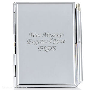 Personalised Engraved Notepad and Pen - Ideal Executive Office Retirement Gift.