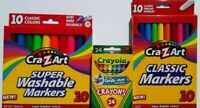 Crayola Crayon 24pack CraZart Fine & Broad Tip Markers 10pack Stocking Stuffer