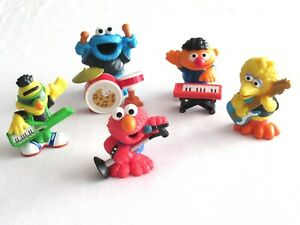 Playskool Sesame Street Band Complete Elmo Big Bird Bert Ernie Cookie Figure