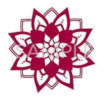 Mandala Vinyl Decals, flower decal, Permanent stickers, wall decal