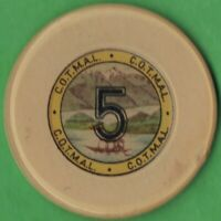 Panama Casino purportedly in Panama City $5 Casino Chip from C.O.T.M.A.L