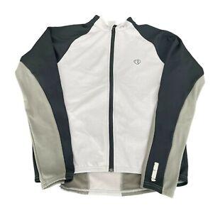 Pearl iZumi Gray LS Bike Cycling Full Zip Jersey Jacket, Size L