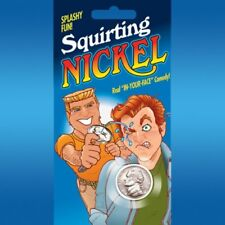 SQUIRTING US NICKEL Real Coin Squirts Water Joke Magic Trick Prank Gag Shoots