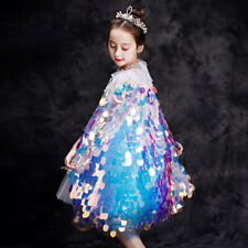 Girls Mermaid Costume Sequined Cape Princess Fairy Cape Stage Performance Show
