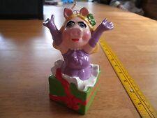 "1981 Miss Piggy ceramic Sigma Christmas gift ornament hanger 5"" Muppets"