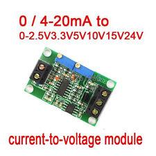 Current to Voltage Module 0/4-20mA to 0-2.5V3.3V5V10V15V24V Voltage Transmitter