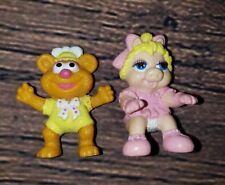 Vintage 1986 Ha! Inc Fozzie Muppet Miss Piggy Muppet Babies Mini Figure