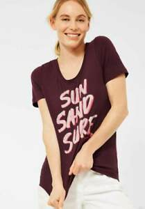 Cecil | T-Shirt mit Wording Print | Farbe: red grape 33133, 316483