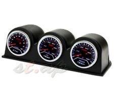 "2""Inch Oil Tempt+Water Temp+Rpm Gauge+ 3X Port Triple Pod Holder Tachometer Dash"