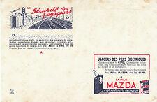 Buvard Vintage  La Pile Mazda   La Sécurité des Voyageurs