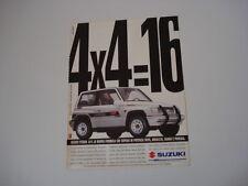 advertising Pubblicità 1994 SUZUKI VITARA 4X4