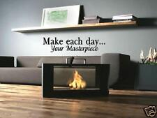 MAKE EACH DAY YOUR MASTERPIECE Home Wall Decal 36""