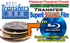 HD Transfer Super 8 SOUND film to Blu-Ray Disc - Full 1080p Frame-by-frame