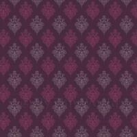 Puppenhaus Miniatur violett Heraldische Diamant Tapete