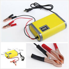 Portable Motorcycle Car Battery Charger Maintainer Trickle 12V 6A Adapter Power