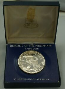 PHILIPPINES 50 Piso 1975 Silver Proof Marcos