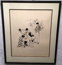 Norman Rockwell Fido's Dog House Framed Signed Lithograph Print 25 x 29""