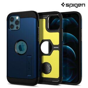 iPhone 12 Pro, 12 Case, Spigen Tough Armor Extreme Protection Cover - Navy Blue
