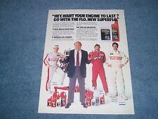 1987 Superflo Exxon Oil Vintage Ad With John Madden Tim Richmond Waltrip Bodine