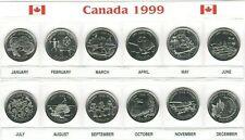 Canada 1999 Millennium Designs  BU UNC Commemorative 12 Coin Set!!