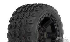 "Pro-Line Dirt Hawg 2.8"" Tires w/Desperado Electric Rear Wheels (Black) (M2) (2)"