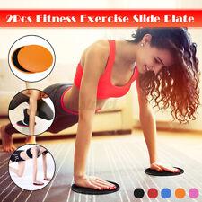 2X Dischi di Scorrimento per Allenamento Forza Esercizio Yoga Fitness