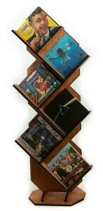 NEW Vinyl Record Storage Cabinet Shelf Display LP Album Stand Solid Wood AWESOME