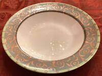 "Victoria & Beale by Sango ARISTOCRAT 7018 8 3/4"" Rimmed Salad Bowls Set of 6 EUC"