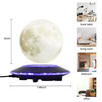 Magnetic Levitation 3D Moon Lamp Floating Globe LED Night Light Desk Decor Gift