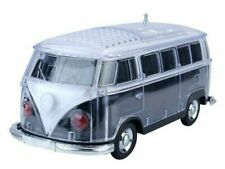 Volkswagen Bus Loud Black Bluetooth Portable Speaker with LED Light USB/AUX/FM