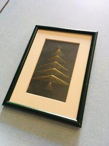 Vintage Christmas String Art - Christmas Tree - 1960/70s - Pin Art - Nail Art