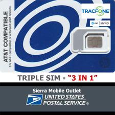 Tracfone Triple Sim Mini 2Ff Micro 3Ff Nano 4Ff • Gsm 4Glte • At&T Network