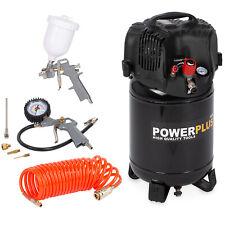 Powerplus Druckluft Kompressor Sparset 24 L 8 Bar 1100 W 7 tlg. Zubehör