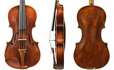 Old Antique Violin 4/4 Size- Has restoration! French Bridge & Dominant Strings!