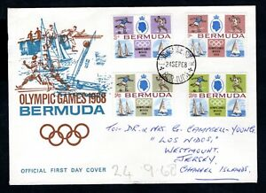 Bermuda - 1968 Mexico Olympic Games First Day Cover