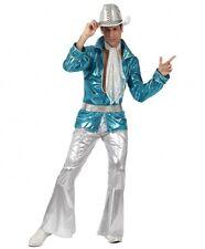 Déguisement Homme Disco Bleu Argent XL Costume Adulte Année 1980