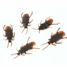 10pcs Realistic Rubber Cockroach Scary Bug Fake Roaches Party Halloween Decor