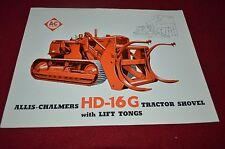 Allis Chalmers HD-16G Crawler Tractor Loader Dealer's Brochure BWPA ver