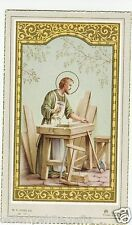 Vintage Catholic Holy Bible Prayer Card ST. Joseph the Worker 1956 Made in Italy