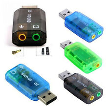 USB 2.0 To Mic Speaker 3D Virtual 5.1 Channel Audio Sound Card Adapter Converter