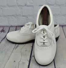 Dr. Scholls Double-Pillo E6Y-09 White Womens Leather Shoes Lace Up Size 8 W