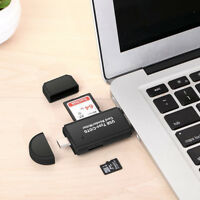 OTG Type c 3 In 1 Micro USB3.0 SD TF Card Reader Connector For OTG Mobile Phone