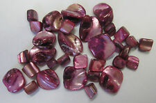 32 Pieces Shell Bead Kit Chunky & Cube Beads In Pink For Jewellery Making TAR254