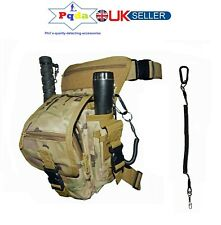 Metal Detecting Heavy Duty Finds Bag Pouch, NEW Model,Leg & Waist Fit + Lanyard.