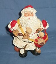 "7.5"" Sports Santa Claus Figurine Teddy Bear Toy Garland Football Baseball Resin"