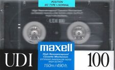 MAXELL UDI 100 NORMAL POSITION TYPE I BLANK AUDIO CASSETTE - JAPAN 1990