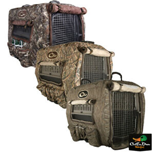 DRAKE WATERFOWL SYSTEMS DELUXE ADJUSTABLE INSULATED CAMO DOG KENNEL COVER