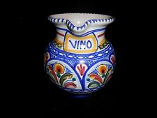 "Small Vintage Pottery Vino Wine Jug Pitcher 6 1/2"" H x 6"" Wide $319.00 Sears"